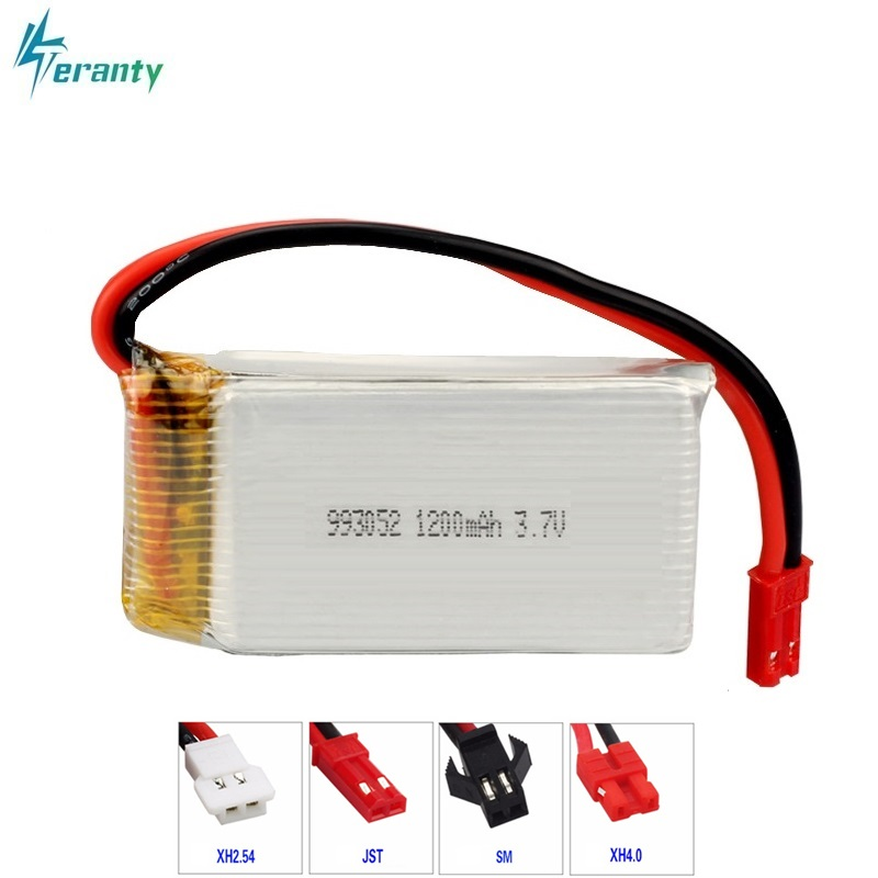 3.7V 1200mAh 25c lipo battery for LD MJX T64 T04 T05 F28 F29 T56 T57 HuanQi HQ 859B remote control aircraft 3.7v lipo battery