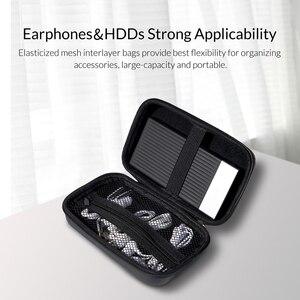 Image 3 - Orico Storage Case Bag Draagbare Hdd Bescherming Tas Oortelefoon Tas Accessoires Case Voor 2.5 Hard Disk Case Usb kabel Power bank