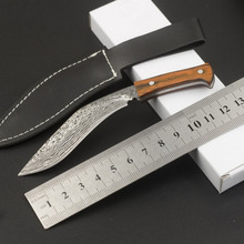 Portable Folding Knife Stainless Steel Blade Wood Handle Outdoor Rescue Survival Tool for Camping Fishing Hiking Pattern Silver multifunction hiking carabiner w folding knife silver