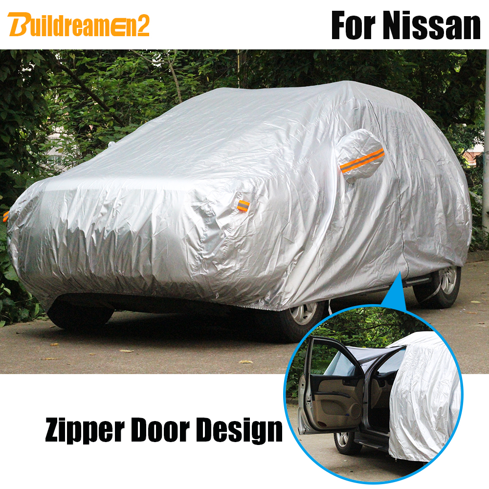 Buildreamen2 Waterproof Car Cover Outdoor Sun Snow Rain Resistant Cover For Nissan Tiida Primera Sentra Altima Medalist FugaBuildreamen2 Waterproof Car Cover Outdoor Sun Snow Rain Resistant Cover For Nissan Tiida Primera Sentra Altima Medalist Fuga