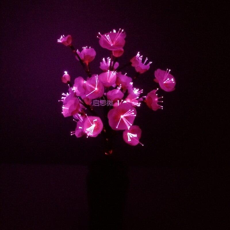 Newest Style Plum Flower Optical Fiber Flower Colour Change Novelty Artistic Home Party Shop Hotel Decoration Night Lamp