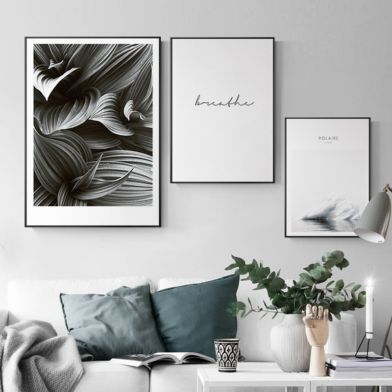 Black And White Paintings For Bedroom Bedroom Sets Black Modern Bedroom Black Bedroom Furniture Sets Pictures: LS Nordic Letters Iceberg Black And White Canvas Paintings