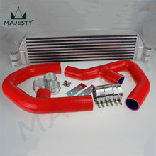 TURBO TWIN INTERCOOLER KIT FOR Volkswagen VW GOLF MK5 MK6 GTI FSI JETTA 2.0T RED