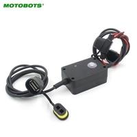 MOTOBOTS 1Pcs Motorcycle Motorbike Mobile Phone Charger USB Hardwired IPhone 5 5c 5s 6 6 Plus