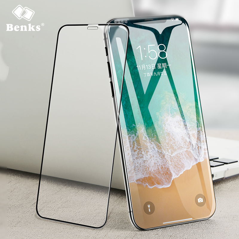 Anti dust full cover tempered glass for Iphone X Benks Accessory Glass 2 By Corning High ...