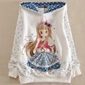 Primavera crianças hoodies para meninas adolescentes camisola de algodão manga comprida camisa dos desenhos animados crianças roupas china tamanho 10 12 anos de idade