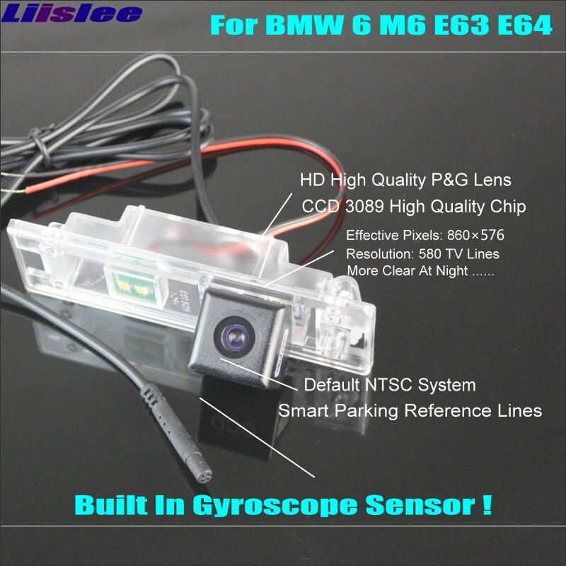 Liislee inteligentna kamera cofania dla BMW 6 M6 E63 E63N E64 E64N widok z tyłu Back Up/580 linii TV dynamiczne tory