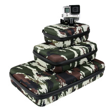 Gopro hero 5/4/3+camouflage large sports camera medium size package carrying bag for Xiaomi Yi SJ CAM SJ4000 SJ7000 Accessories