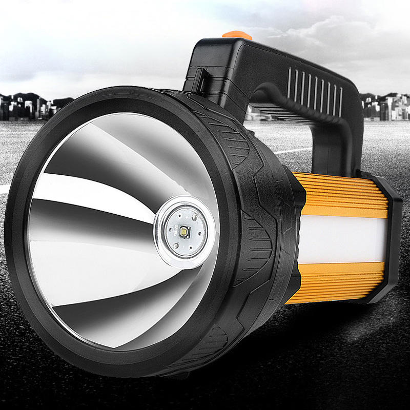 The searchlight outdoor charge Long distance remote fishing light hunting big LED torch waterproof Free shipping