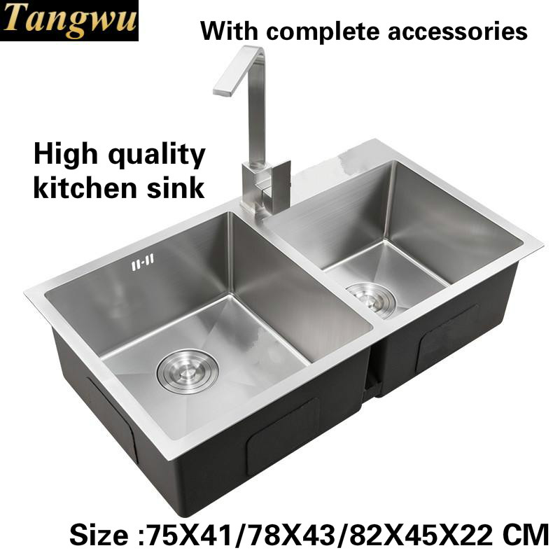 Tangwu 4 Mm Thick High Grade Kitchen Sink Food Grade 304 Stainless Steel Hand