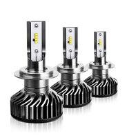 100x фар автомобиля мини F2 H7 светодиодный H4 светодиодный лампа с 8 SMD зэс чип 60 Вт 8000LM 6500 к противотуманная фара 12 V/24 V Авто H1 H11 9005 9006 лампы