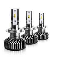 100x 자동차 헤드 라이트 미니 f2 h7 led h4 led 전구 8 smd zes 칩 60 w 8000lm 6500 k 안개 빛 12 v/24 v 자동 h1 h11 9005 9006 램프