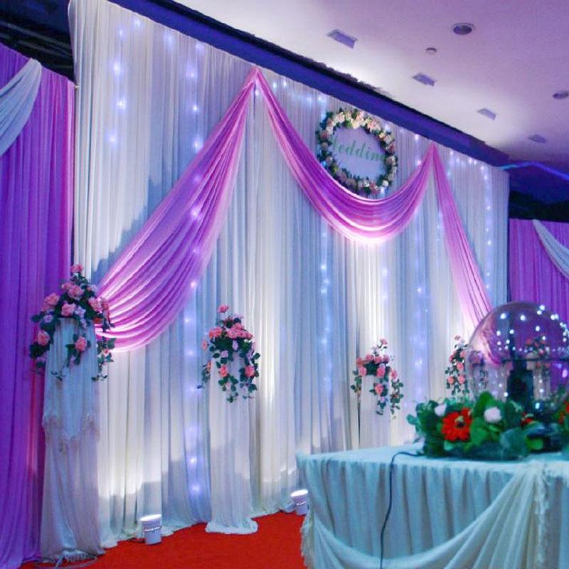 Wedding Decoration 155M Silk Satin Fabric Birthday Party Background DIY Curtain