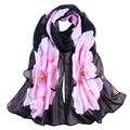 Good Deal Fashion Good Quality New Women Lady Scarves Soft Thin Chiffon Scarf Flower printed Scarves Wrap Shawl Gift 1PC