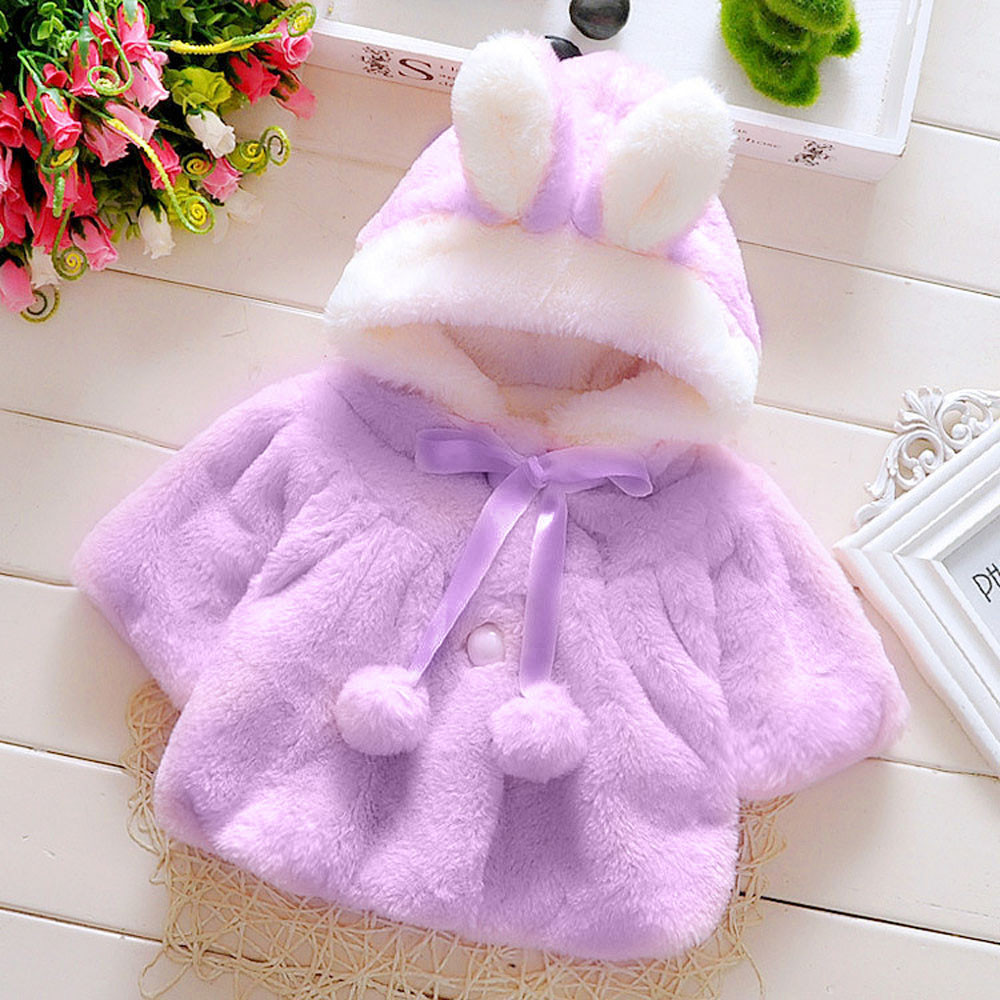boutique Coat Baby Infant Girls Autumn Winter Hooded Coat Cloak Jacket Thick Warm Clothes