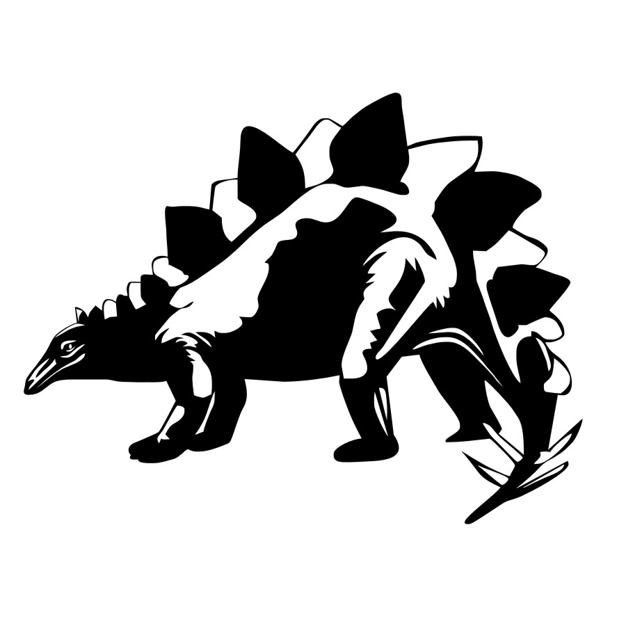Image 2 - Ferocious Animal Stegosaurus Dinosaurs Wall Sticker Vinyls Jurassic Wall Decals Home Decorative Bedroom Living Room Art Mural-in Wall Stickers from Home & Garden