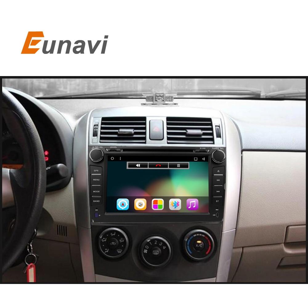 imágenes para 2 din Android 6.0 coches reproductor de dvd para Toyota Corolla 2007 2008 2009 2010 2011 Quad Core de 8 pulgadas 1024*600 pantalla coche radio estéreo