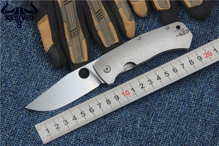 KESIWO Quality 100 D2 blade C186 folding font b knife b font TC4 titanium alloy EDC