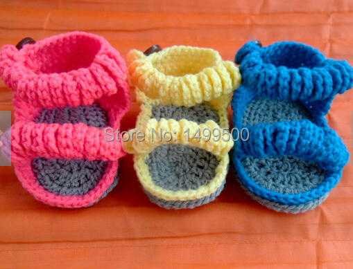 be39d958d5eb9 US $19.81 |20%off! crochet baby sandals, Crochet baby shoes, Crochet babies  booties, shoe for Newborn, 0 3 and 3 6 months 3pairs/6pcs-in Sandals & ...