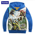 Hot Sale 2017 1Pcs Cartoon Printed Boys Hoodie Cotton Warm Outerwear Kids Cartoon Printed Winter Autumn Fashion Casual Hooded