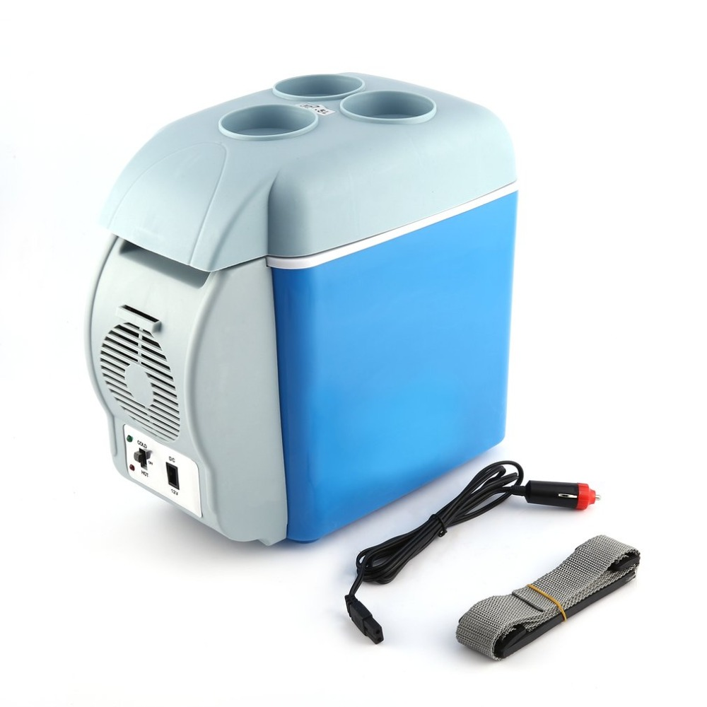 12V 7.5L Multifunctional Car Fridge Portable Freezer Cooler Warmer Mini Camping Refrigerator Outdoor Refrigerator Travel Home цена и фото