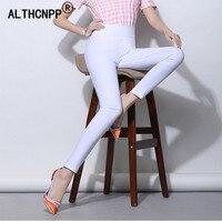e49ae2ee80 6XL Plus Size Women Pants White High Waist Thin Skinny Stretch Pencil Pants  Summer Women Trousers. 6XL Plus tamaño pantalones de las mujeres blanco ...