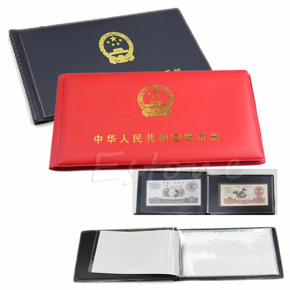 Paper Money Holders Storage Collection Pockets New Album Book Collecting image
