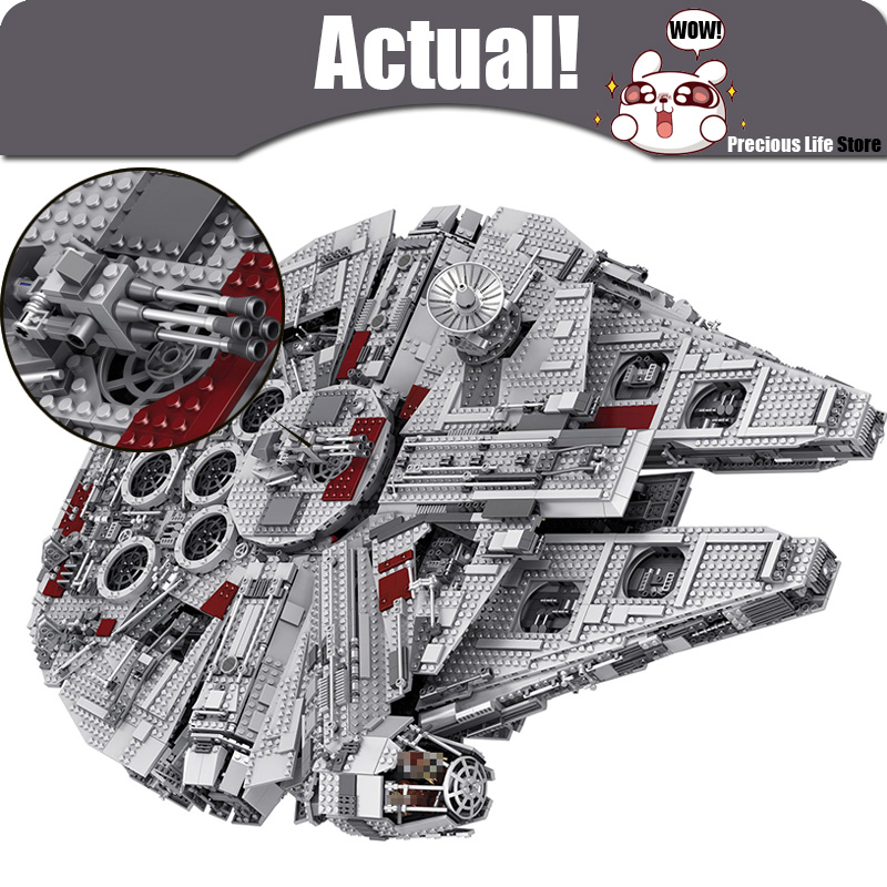 LELE 5382pcs Star Ultimate Collector Millennium Falcon Wars Model Building Blocks Bricks Toys for children Compatible with 10179