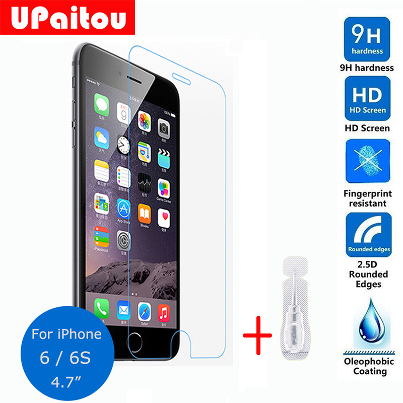 For Apple iphone 6S Tempered glass Screen Protector 2.5D 9H Safety Protective <font><b>Film</b></font> on I6 <font><b>iPhone6</b></font> A1549 A1586 A1589 4.7 inch image