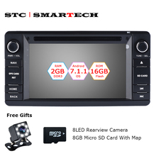 SMARTECH 2 Din Android 7.1.2 OS Car Audio CD DVD Radio Player GPS Navigation for MITSUBISHI Outlander 2013-2016 With CAN-BUS