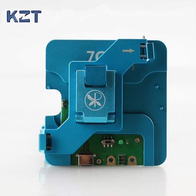 US $153 85 15% OFF|Free shipping HDD hard disk iphone NAND Flash Memory  CHIP socket test tool for iPhone 6s 6sp 7 7p IC Motherboard fixture  Tester-in