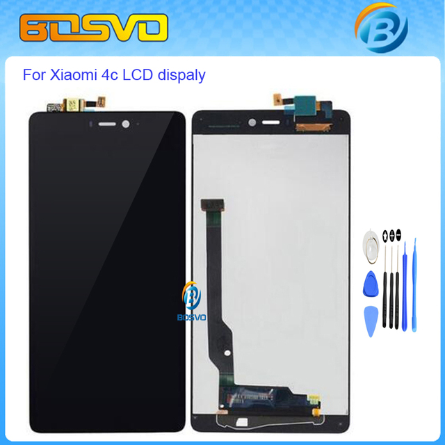 High quality Replacement for xiaomi mi4c lcd display with touch screen digitizer For Xiaomi 4C MI 4C lcd assembly BLACK+tools