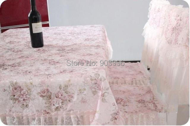 product Free shipping NN#57 Thicker version pastoral cotton cloth 1pc(130*180cm) tabel cloth+4pcs(Chair cushion + chair covers)