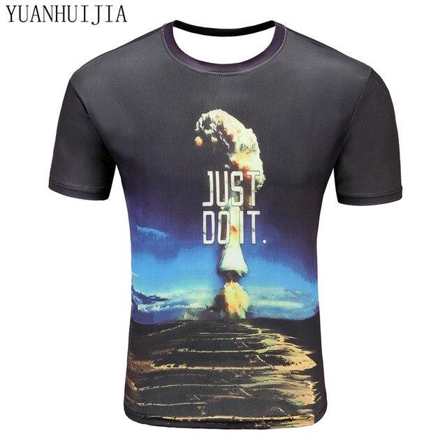 2017 anos novo comprimido t-shirt 3d imprimir t-shirt curto masculino manga  curta 1a7fb0df86f2a