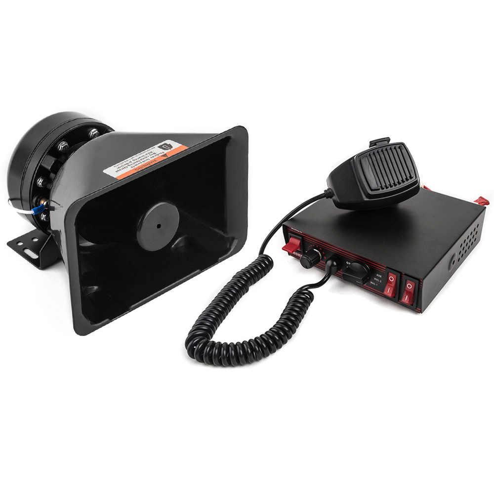 YHAAVALE 200E автомобильный Стайлинг 8 тонов Автомобильная полицейская сирена 200 Вт 12 в автомобильный усилитель с пластиковый рупор электронная сигнализационная сирена PA система