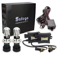 Safego 55w H4 55W HID Hi/lo Bixenon kit H4 bi xenon h4 flexible high low dual beam 4300k 6000k 8000k Bi xenon hid kit H4 3