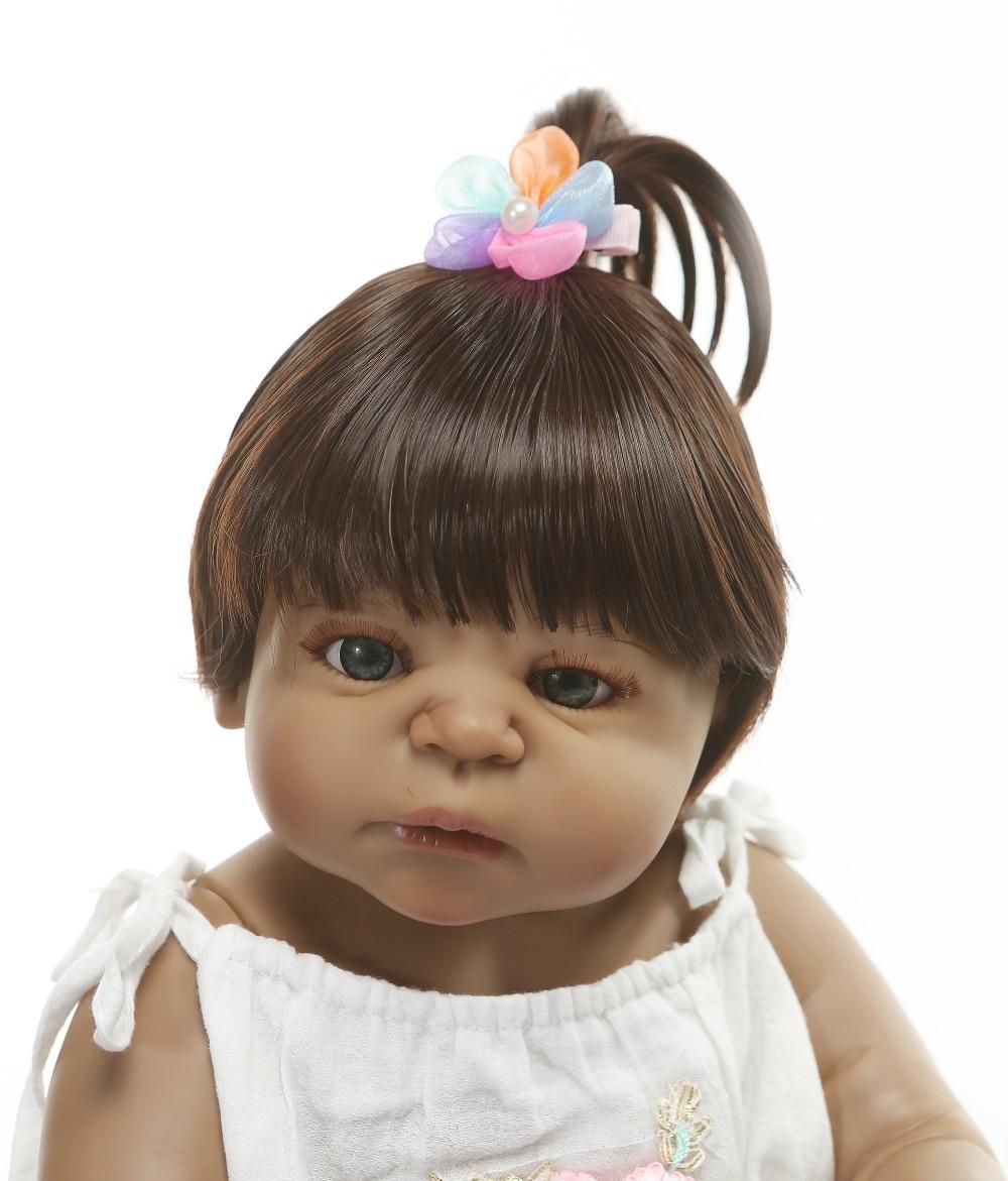 Oyuncaklar ve Hobi Ürünleri'ten Bebekler'de NPK 22 Inç 56 cm Reborn Bebekler Bebek Kız Tam Vücut Silikon Vinil Gerçekçi Prenses Bebekler Bebek Çocuk Oyun Arkadaşları hediye oyuncaklar'da  Grup 2