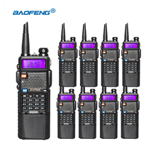 8pcs/lot Baofeng UV-5R VHF 136-174Mhz UHF 400-520Mhz Dual Band with 3800mAh li-ion battery Radio Walkie Talkie CB Ham Radio