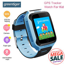 Greentiger Q528 GPS Kids Smart Watch Camera Lighting SOS Call Location Device Tracker for Kid Safe Smart Baby Watch PK Q100 Q90(China)