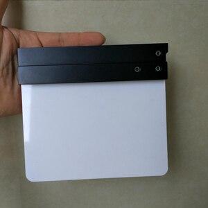 "Image 5 - Studio Camera Photography Video Acrylic Small Clapboard Dry Erase Director Film Movie Clapper Board Slate (6.3x5.5"" /16x14cm)"