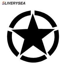 SLIVERYSEA Pentagram Brandstoftank Auto Stickers Pentagram Vinyl Decals Voor Jeep Wrangler # B1210