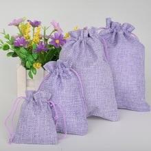 Light Purple Drawstring Jewelry Pouch (5 Pieces)