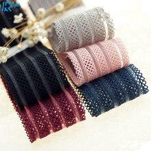 40mm / 4cm Plaid Yarn Ribbons DIY bowknot accessories Ribbed ribbon handmade tape 5y/lot