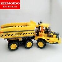 SERMOIDO Teknik Şehir Serisi Mini Konteyner Kamyon Yapı Blokları Tuğla Modeli Çocuk Oyuncakları Marvel Uyumlu Lepine B19