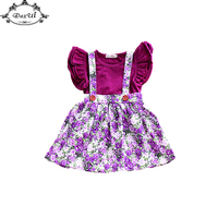 Ins Little Girls Clothing Set Baby Girls Romper Skirt Suit Floral Print Baby Girls Clothes Ruffle