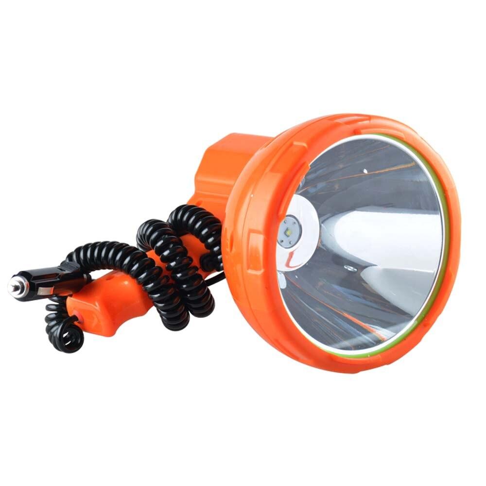 High power 100W LED searchlight outdoor camping adventure 12V spotlight car marine 55W searchlight in Portable Spotlights from Lights Lighting