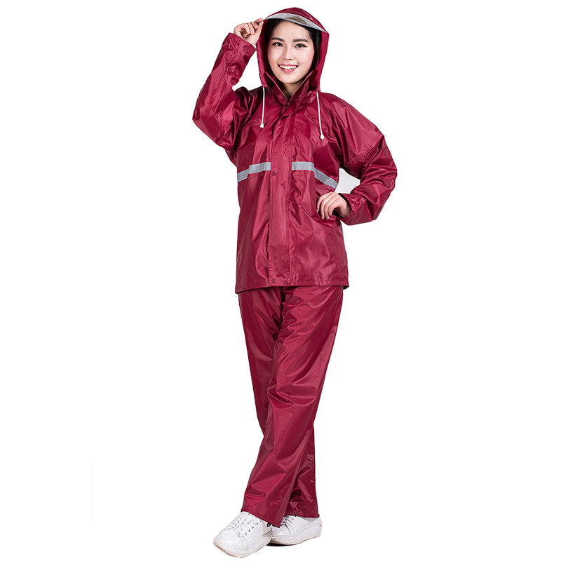 Rainfreem Impermeable Raincoat Women/Men Double-layer Hood Rain Coat Motorcycle Rainwear Camping Rain Gear Poncho