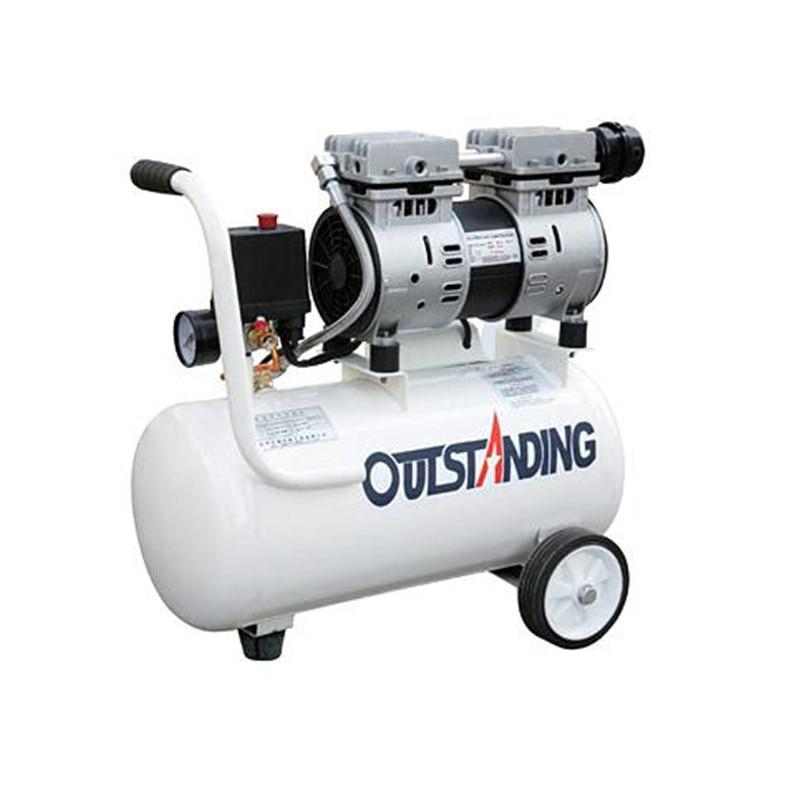 QTS550-18 Portable Air Compressor Quiet Oil Free 550W/18L 1380r/min for OCA Laminator Bubble Remove Machine Vacuum LCD Separator 13mm male thread pressure relief valve for air compressor