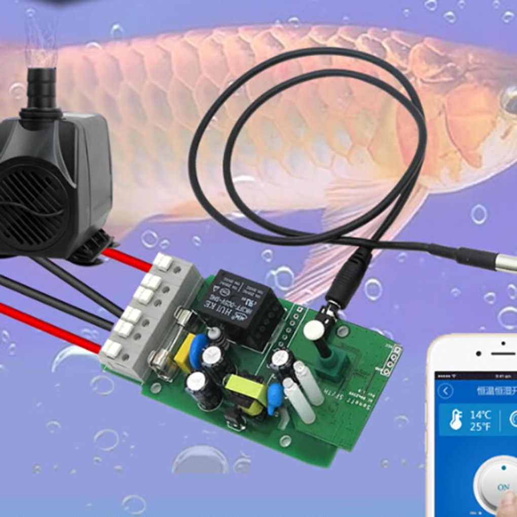 جهاز إرسال Sonoff الذكي لمستشعر Sonoff المقاوم للماء ودرجة الحرارة والرطوبة طراز TH10/TH16 مع مفتاح جديد