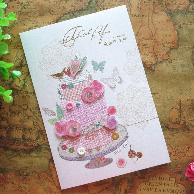 Creative Stereoscopique Main Carte Enseignant Des Enseignants Jour De Cartes Voeux Remercier Un Une